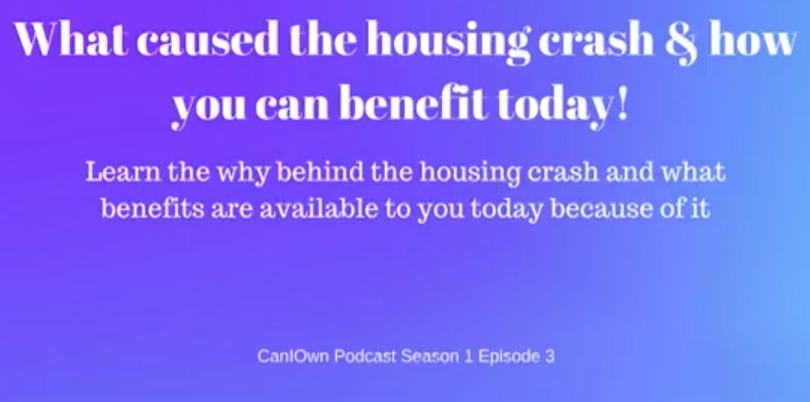 What caused the housing crash & how you can benefit today!