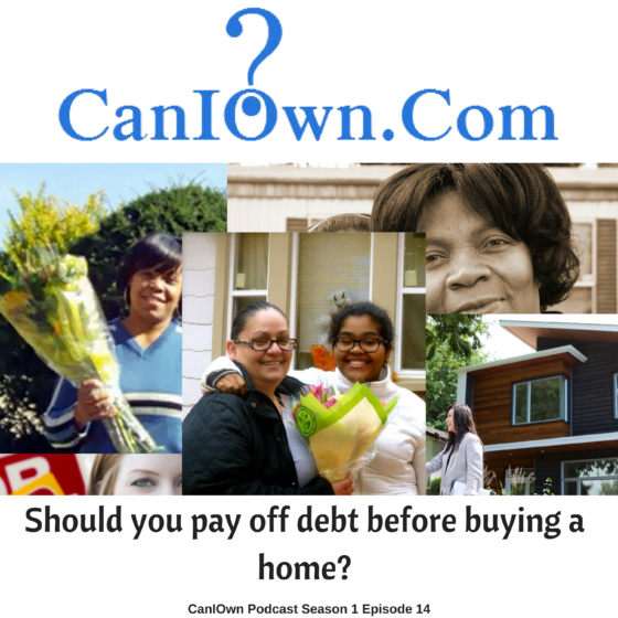 Should I pay off debt before trying to buy a home?